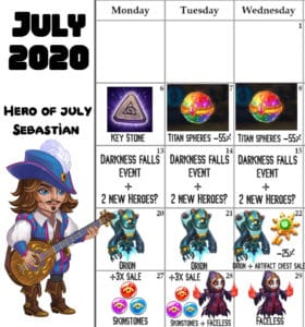 Read more about the article July Event Calendar 2020 for Mobile Hero Wars
